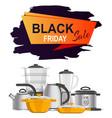 black friday sale advert vector image