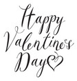black inscription happy valentines day with hearts vector image