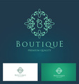Boutique Floral Logo vector image