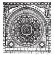 catherine wheel ornamental window vintage vector image vector image