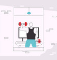 character fitness in gym scene vector image