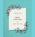 christmas and new year winter nature greeting card vector image