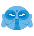 clipart a blue color face used for tribal vector image vector image