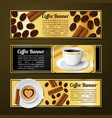 Coffee banners horizontal vector image