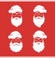 collection of four hipster style santa claus vector image vector image
