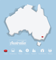 Commonwealth of Australia map vector image vector image