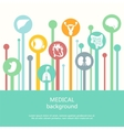 Concept of medical background Human anatomy vector image vector image