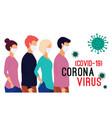coronavirus pandemia novel coronavirus 2019-ncov vector image