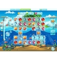 fish world- playing field for computer game or vector image vector image