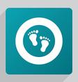 flat footprints icon vector image vector image