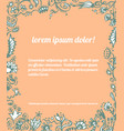 frame of hand drawn doodle floral elements vector image