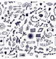 funny doodle elements seamless pattern hand drawn vector image vector image
