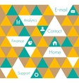 Geometric design template vector image vector image
