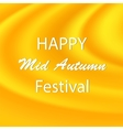 Happy Mid Autumn Yellow Backgound vector image