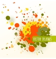Inky colorful splashes vector image vector image