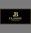 jb monogram classic vector image vector image