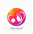 logo mother and her bamodern abstract vector image