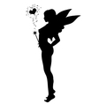 love fairy silhouette vector image vector image