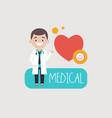 medic man proposing medical vector image