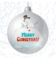 Merry christmas card with brilliant glossy ball vector | Price: 1 Credit (USD $1)