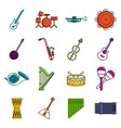 musical instruments icons doodle set vector image