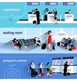 People In Airport Banners vector image vector image