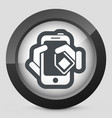 phone card icon vector image