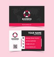 pink modern corporate business card print template vector image vector image