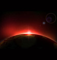planet earth sunrise vector image