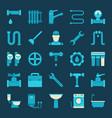 plumbing icons vector image vector image