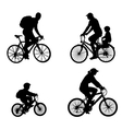 recreational bicyclists vector image vector image
