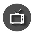 retro tv screen icon in flat style old television vector image vector image