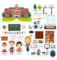 school education related infographics elements vector image