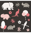 Seamless animal pattern for kids vector | Price: 1 Credit (USD $1)