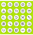 Set of line icon travel and tourism vector image