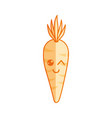 silhouette kawaii cute funny carrot vegetable vector image vector image