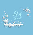 snowflakes and icicles decor vector image