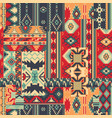 traditional native american style fabric patchwork vector image vector image