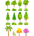 tree set for park and landscape images vector image vector image