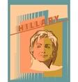 US Senator Hillary Rodham Clinton vector image vector image
