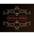 vector vintage royal retro frame ornament decor vector image vector image