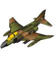 vietnam era american fighter jet vector image vector image