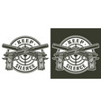vintage military logotype vector image