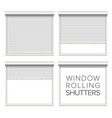 window roller shutters opened and closed vector image vector image