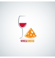 wine and cheese design background vector image vector image