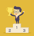 Winner businessman vector image vector image