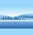 winter snowy landscape vector image vector image