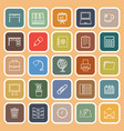 workspace line flat icons on orange background vector image