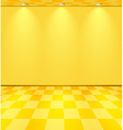 Yellow lightened room vector image vector image