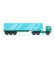truck trailer with container long vehicle with vector image